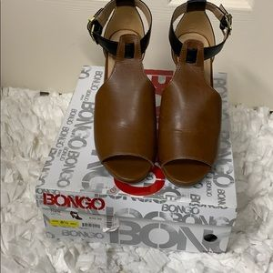 Brown shoes with ankle strap